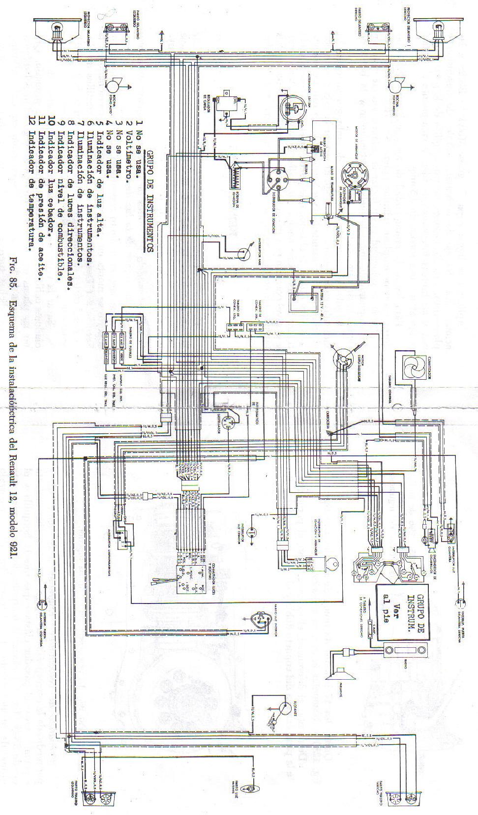 renault diagrama de cableado de serie warthen
