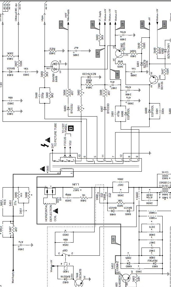diagrama philips 21pt5425 77