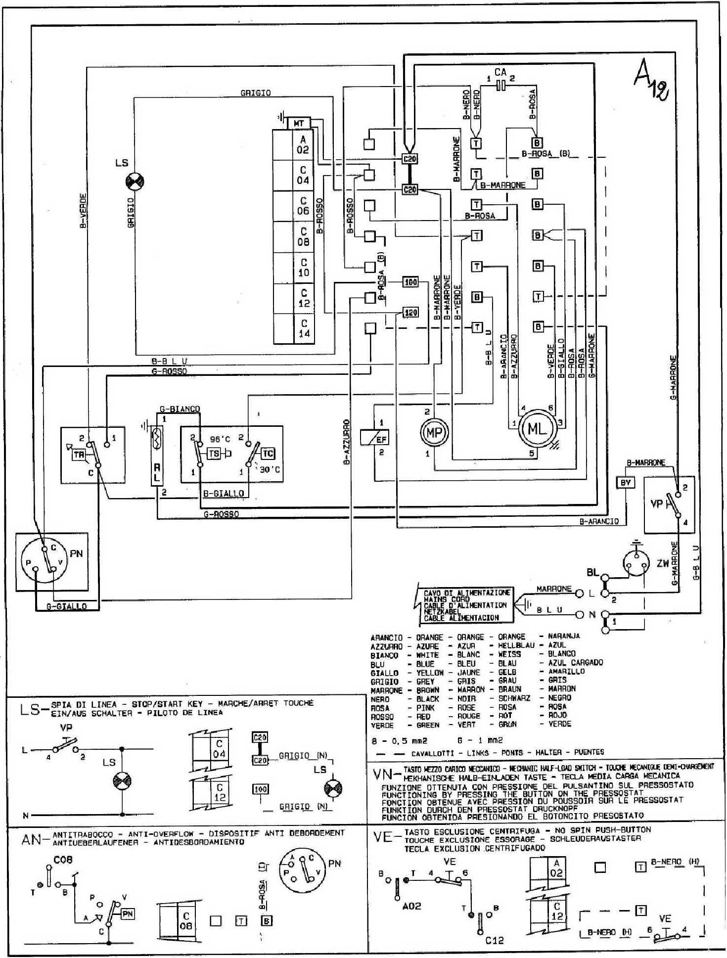 roewe diagrama de cableado de la bomba