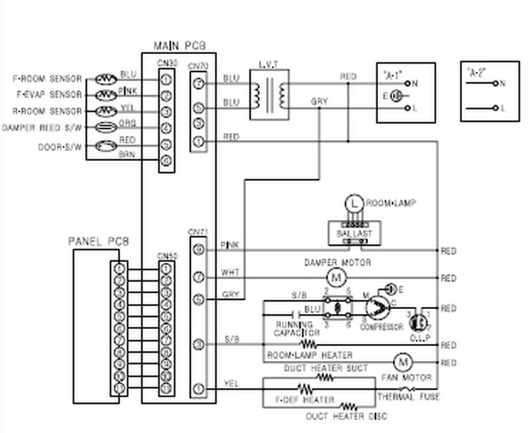 diagrama de cableado freezer