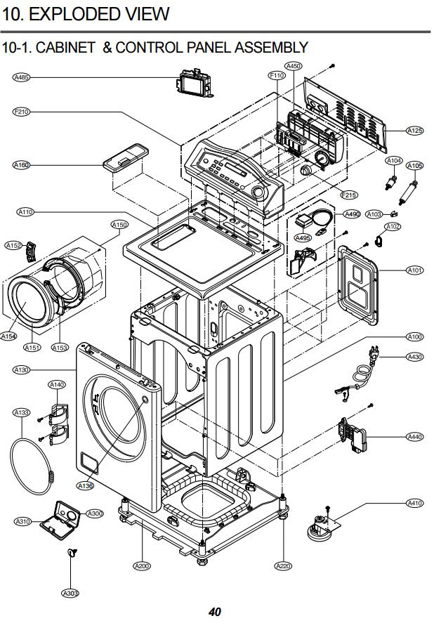 compare con su diagrama de secadora