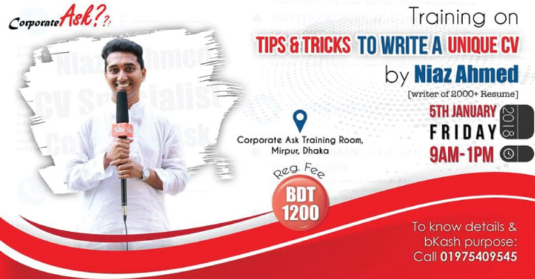 Tips  Tricks to Write a Unique CV 2018 in Dhaka - Bangladesh