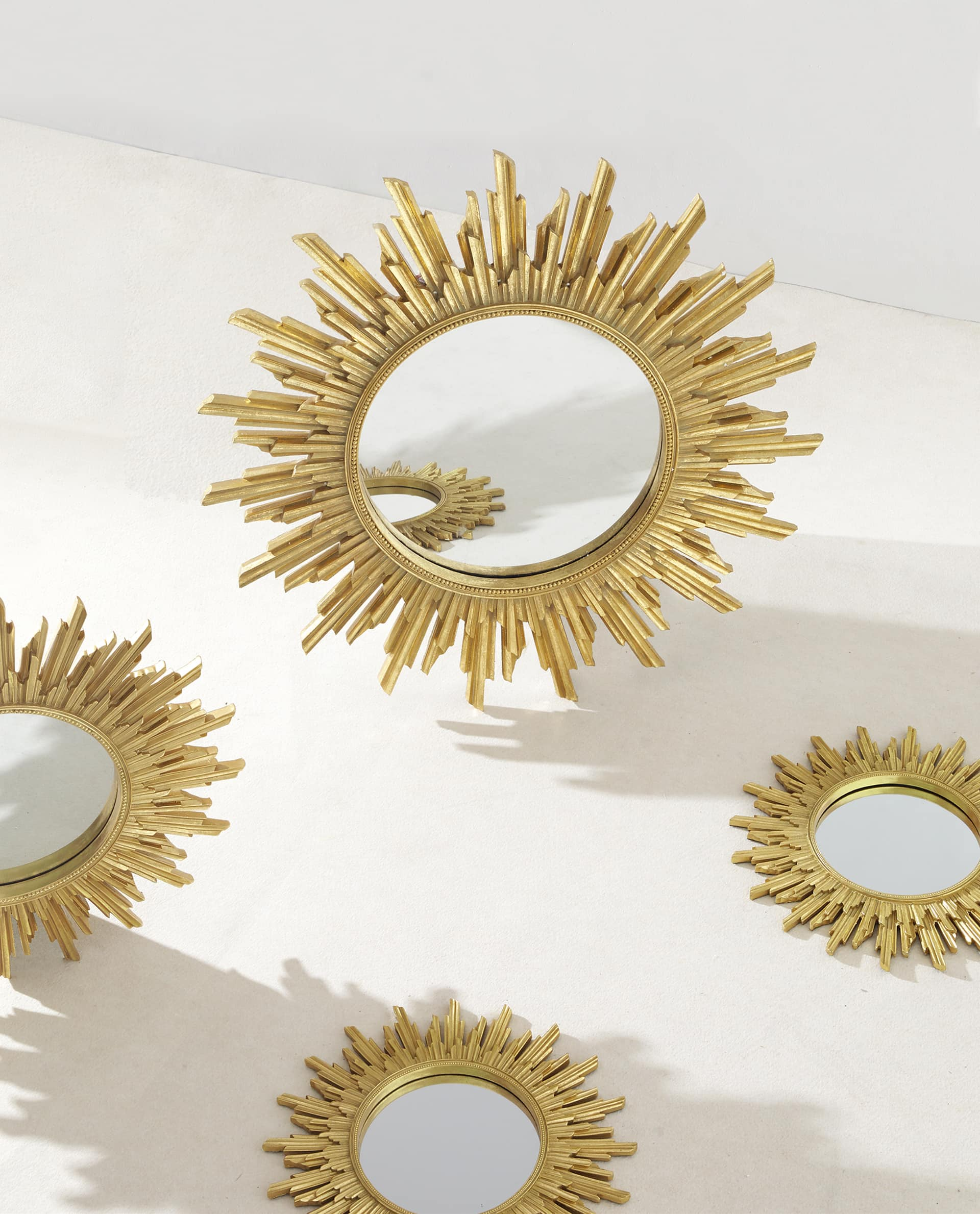 Sun Shaped Mirrors Flower Shaped Gold Mirror Gardening Flower And Vegetables