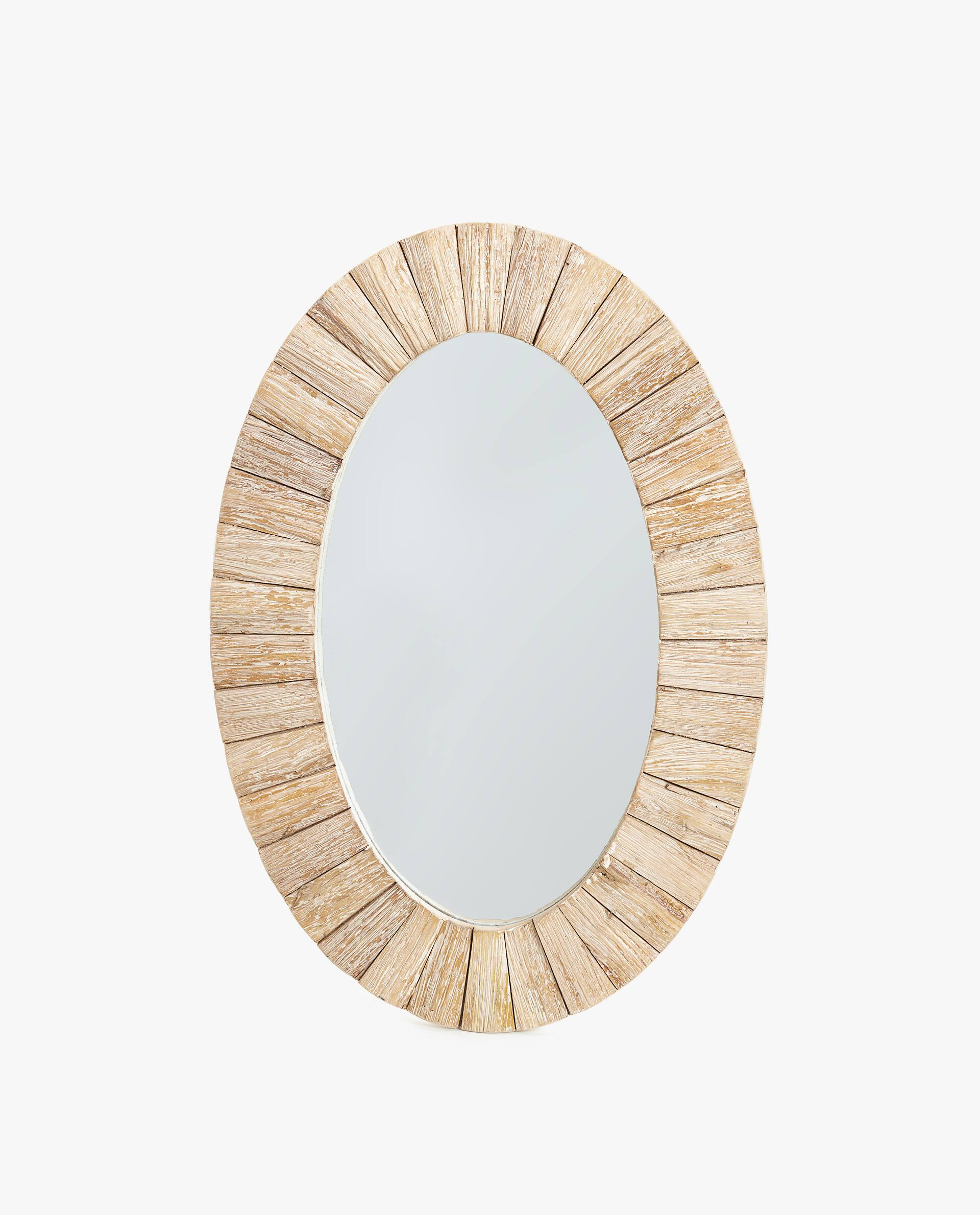 Oval Mirror Wood Frame Oval Wooden Mirror