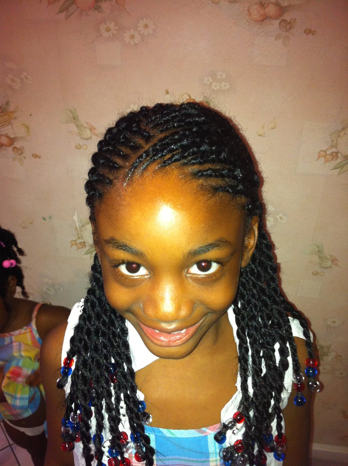 Coiffure Afro Mi Long Coiffure Africaine Tresse Vanille
