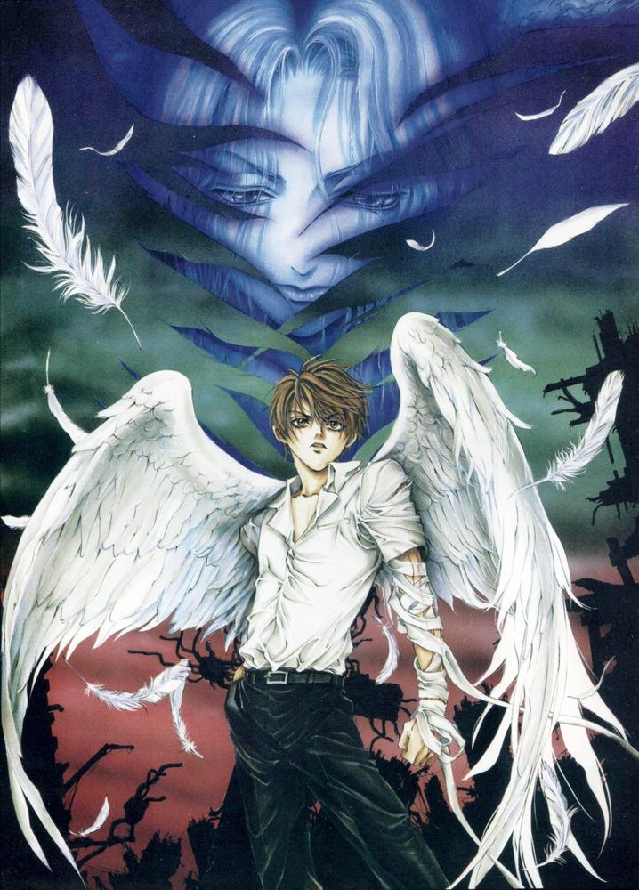 Wallpaper Desktop Girl Falling Angel Sanctuary Kaori Yuki Zerochan Anime Image Board