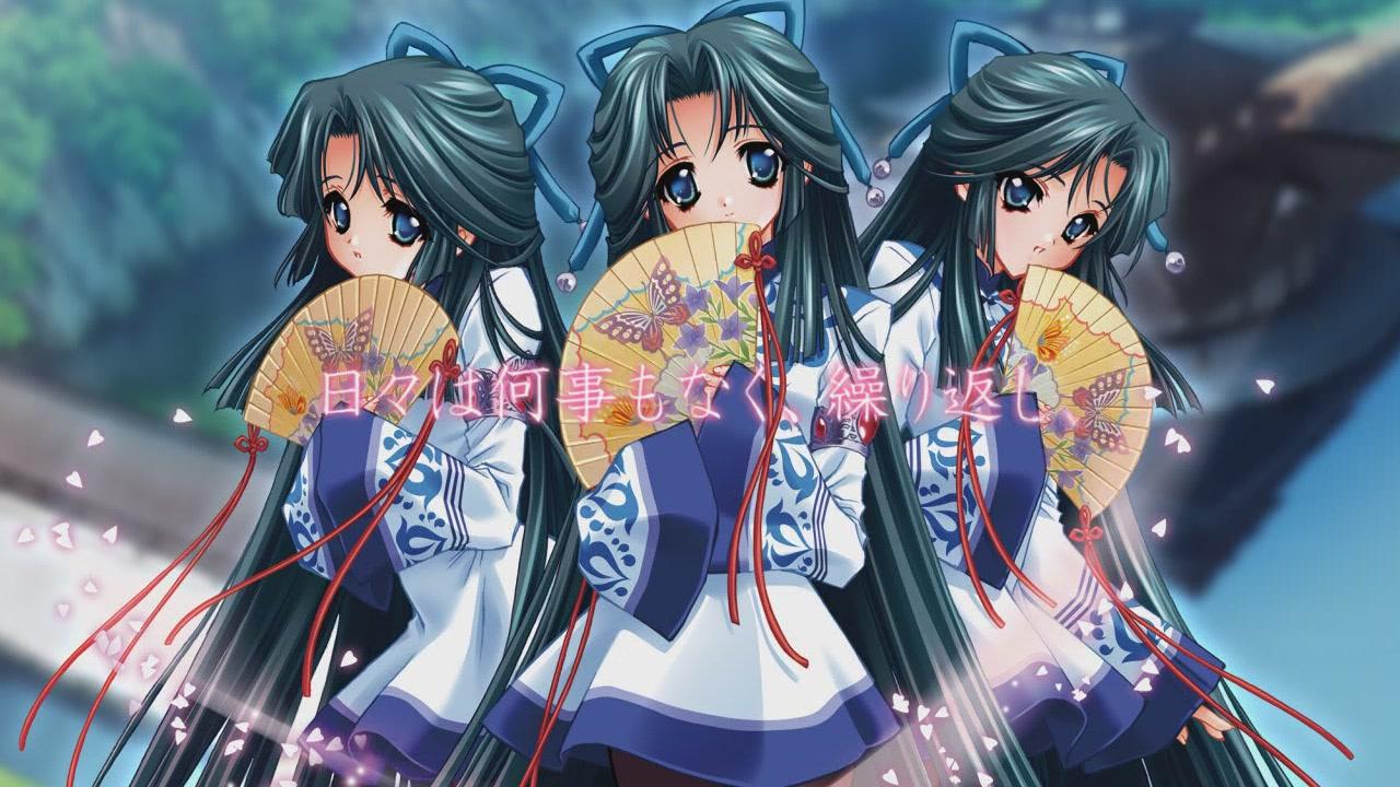 Old Lady Wallpaper Cute Butterfly Triplets Touka Gettan Zerochan Anime Image Board
