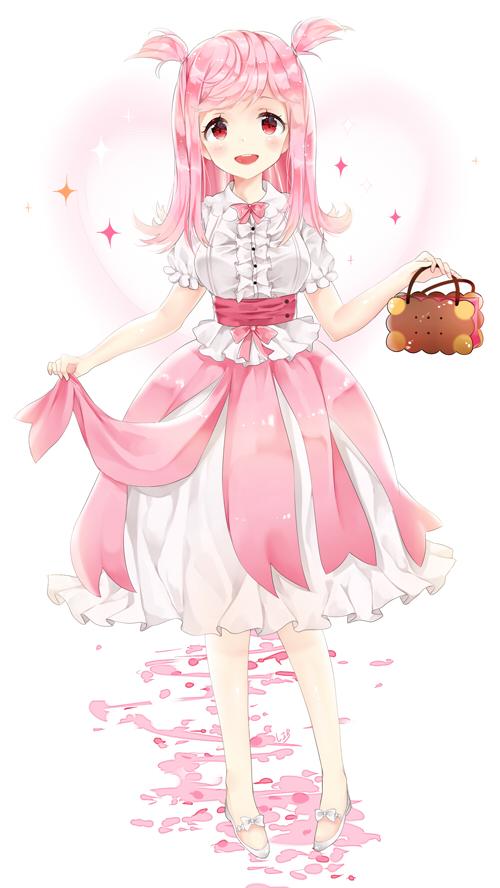 Girl Skirt Wallpaper Cherry Blossom Cookie Cookie Run Mobile Wallpaper