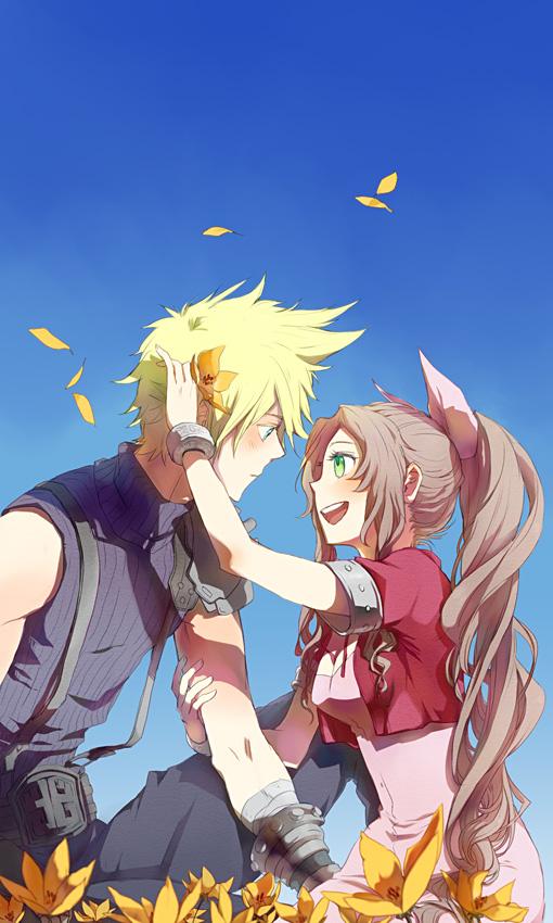 So Cute Couple Wallpaper Final Fantasy Vii Mobile Wallpaper 96712 Zerochan Anime