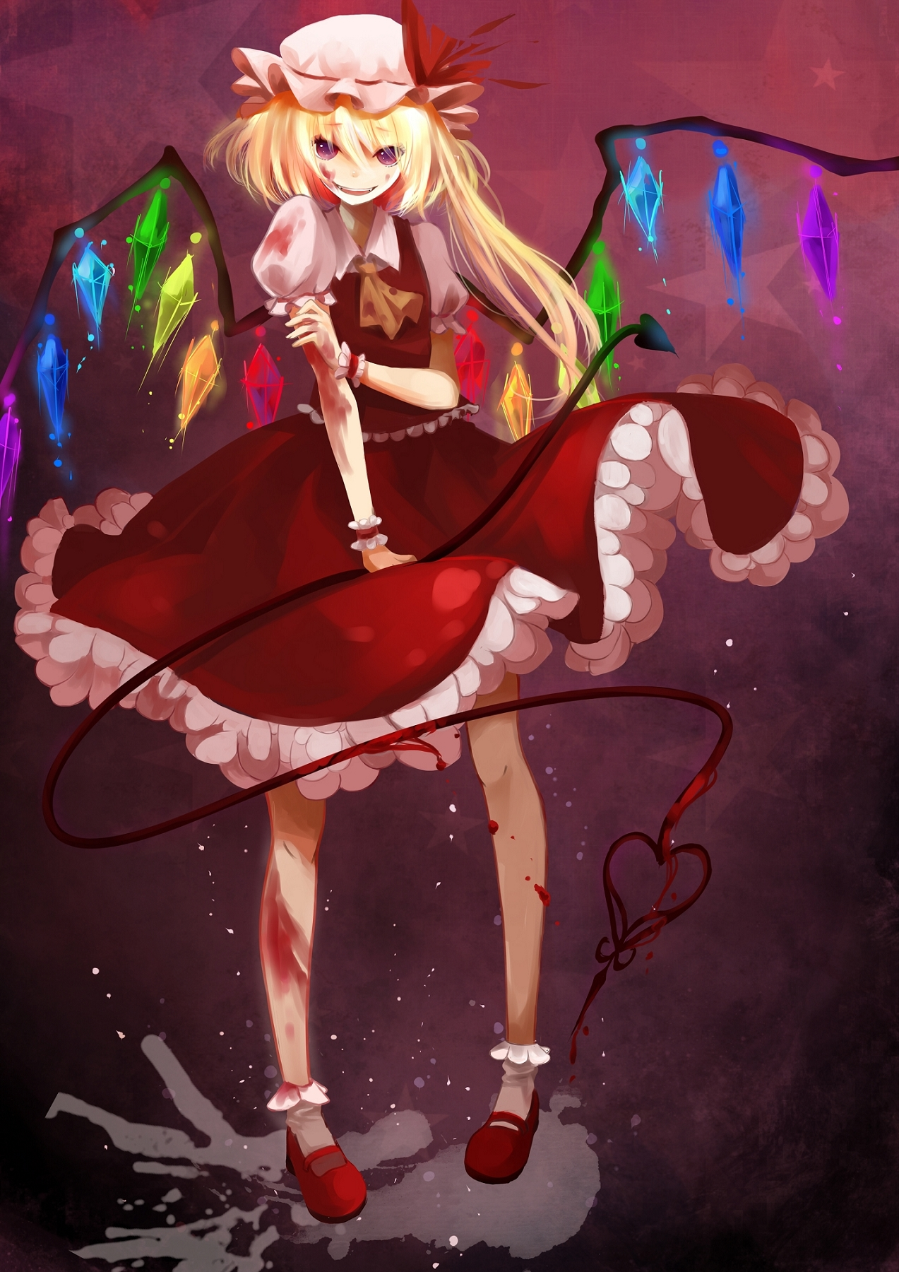 Anime Glass Wallpaper Flandre Scarlet Touhou Mobile Wallpaper 395481