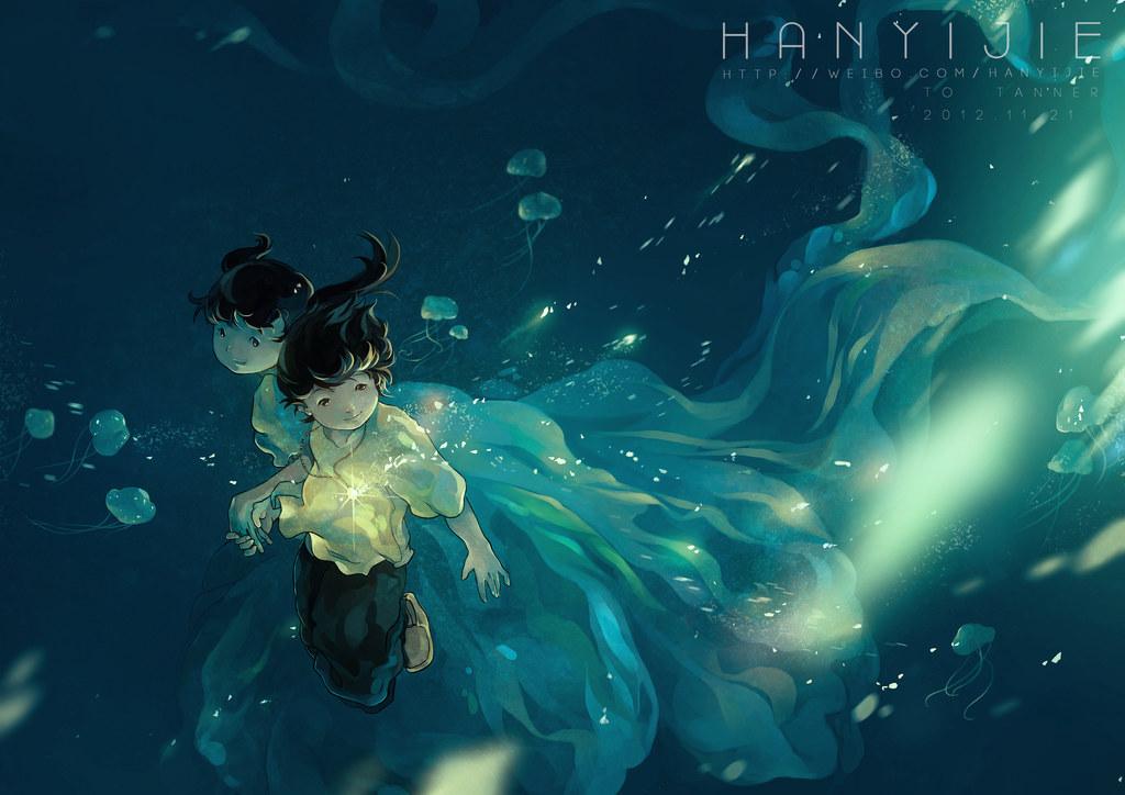 Falling Into Water Wallpaper Hanyijie Image 1429478 Zerochan Anime Image Board