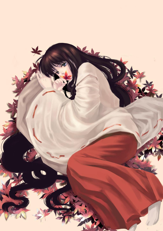 Anime Girl Kawaii Wallpaper Kikyo Inuyasha Fanart Zerochan Anime Image Board