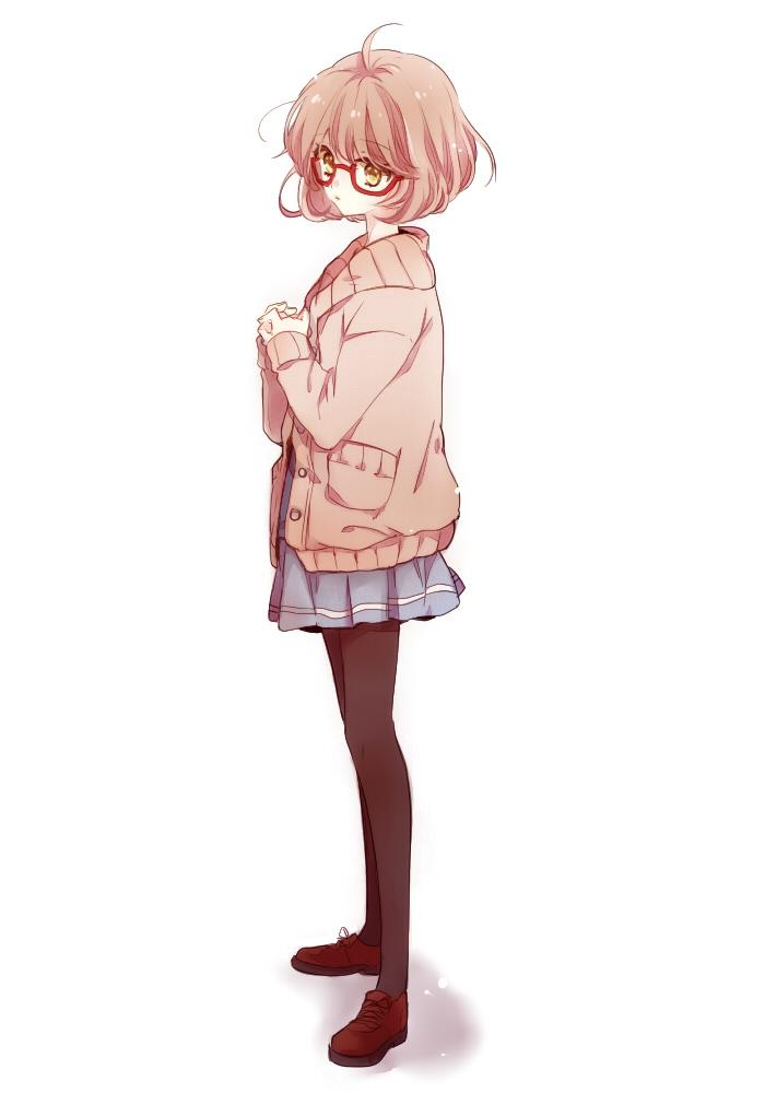 Girl With Mobile Wallpaper Kuriyama Mirai Kyoukai No Kanata Mobile Wallpaper