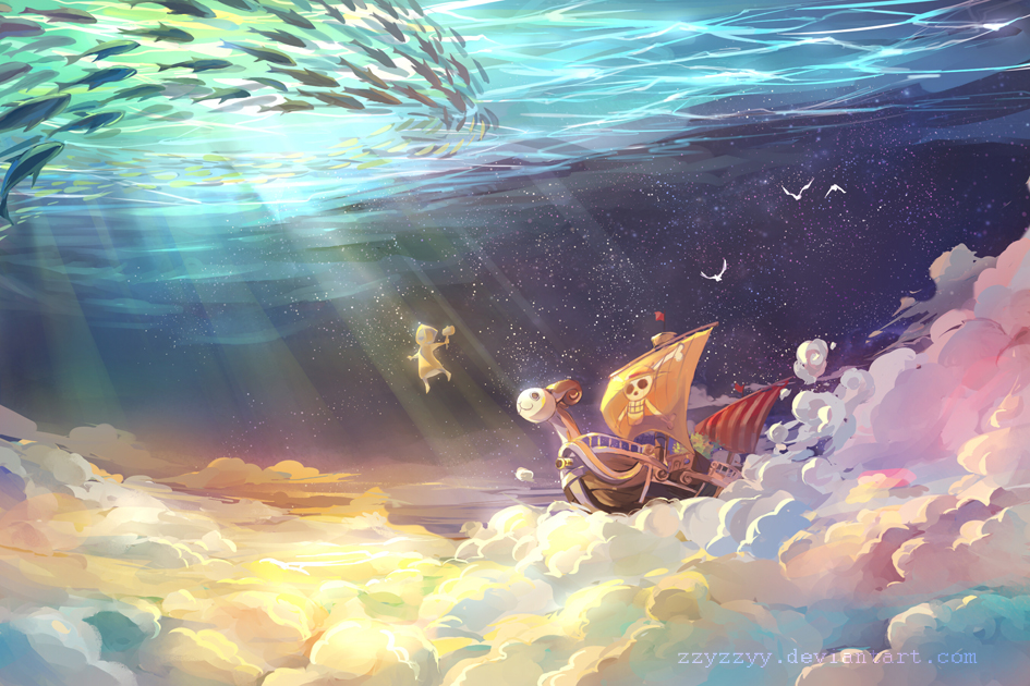 Flying Lamp Going Merry - One Piece - Zerochan Anime Image Board