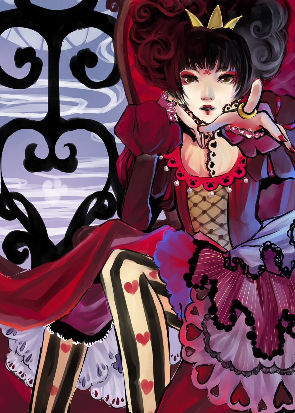 Once Upon A Time Wallpaper Iphone Queen Of Hearts Alice In Wonderland Zerochan Anime