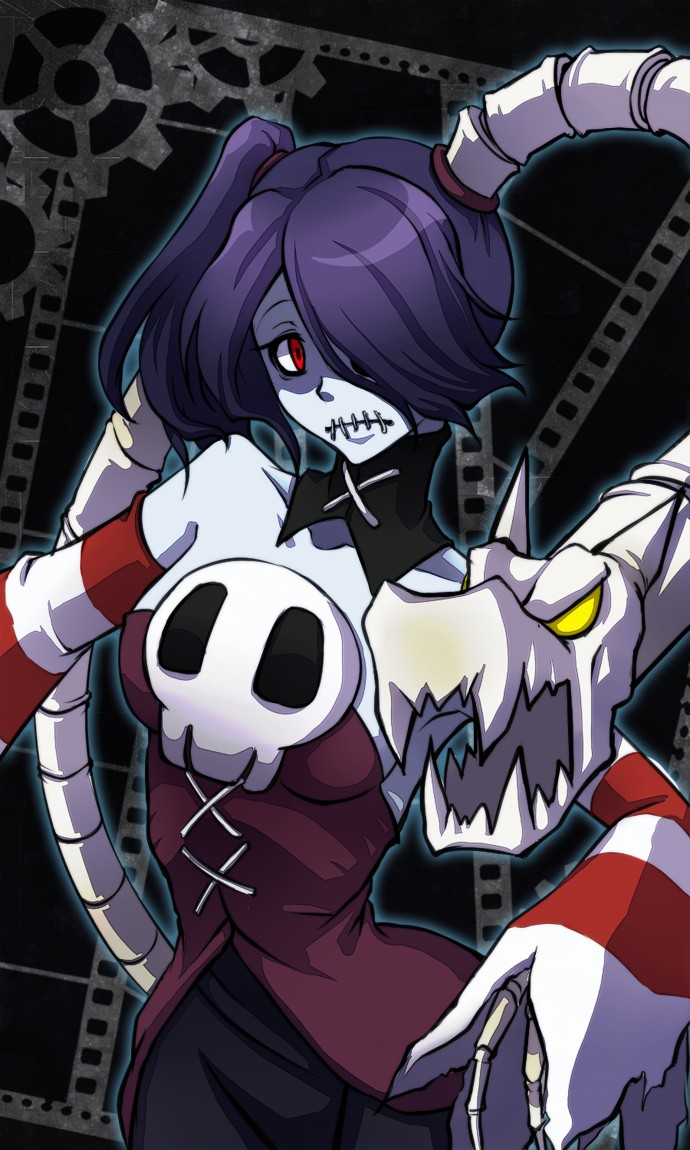 Anime Girl Android Wallpaper Squigly Skullgirls Game Zerochan Anime Image Board