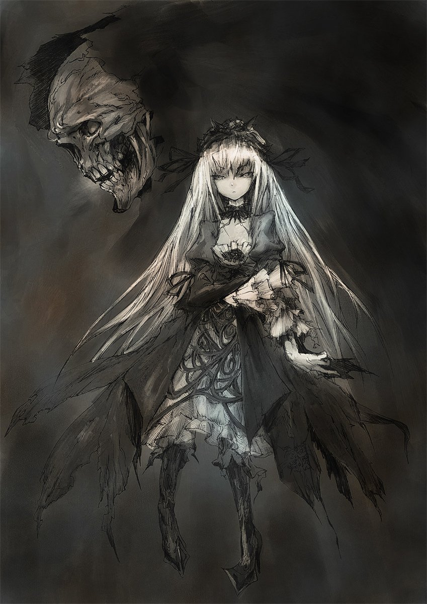 Gothic Girl Iphone Wallpaper Suigintou Rozen Maiden Zerochan Anime Image Board