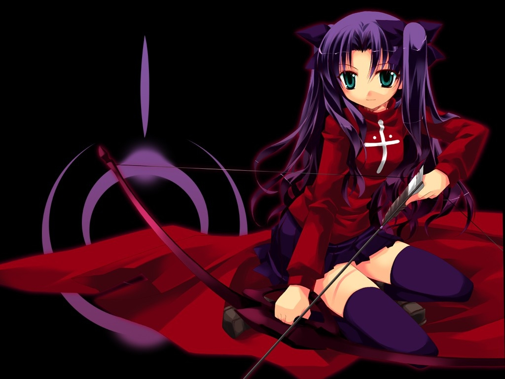 Red Anime Wallpaper Tohsaka Rin 980975 Zerochan