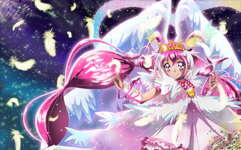 Anime Girl Purple Eyes Wallpaper Smile Precure Wallpaper Zerochan Anime Image Board