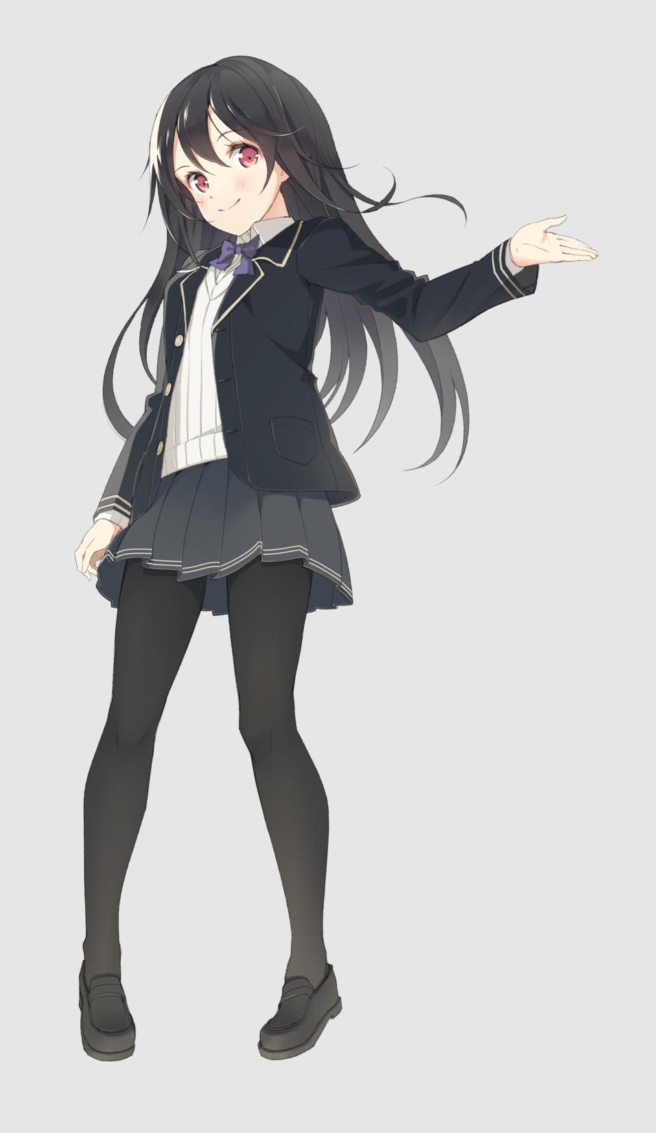 Anime Girl Black Hair Black Wallpaper Yoshino Ryou Mobile Wallpaper 1852377 Zerochan Anime