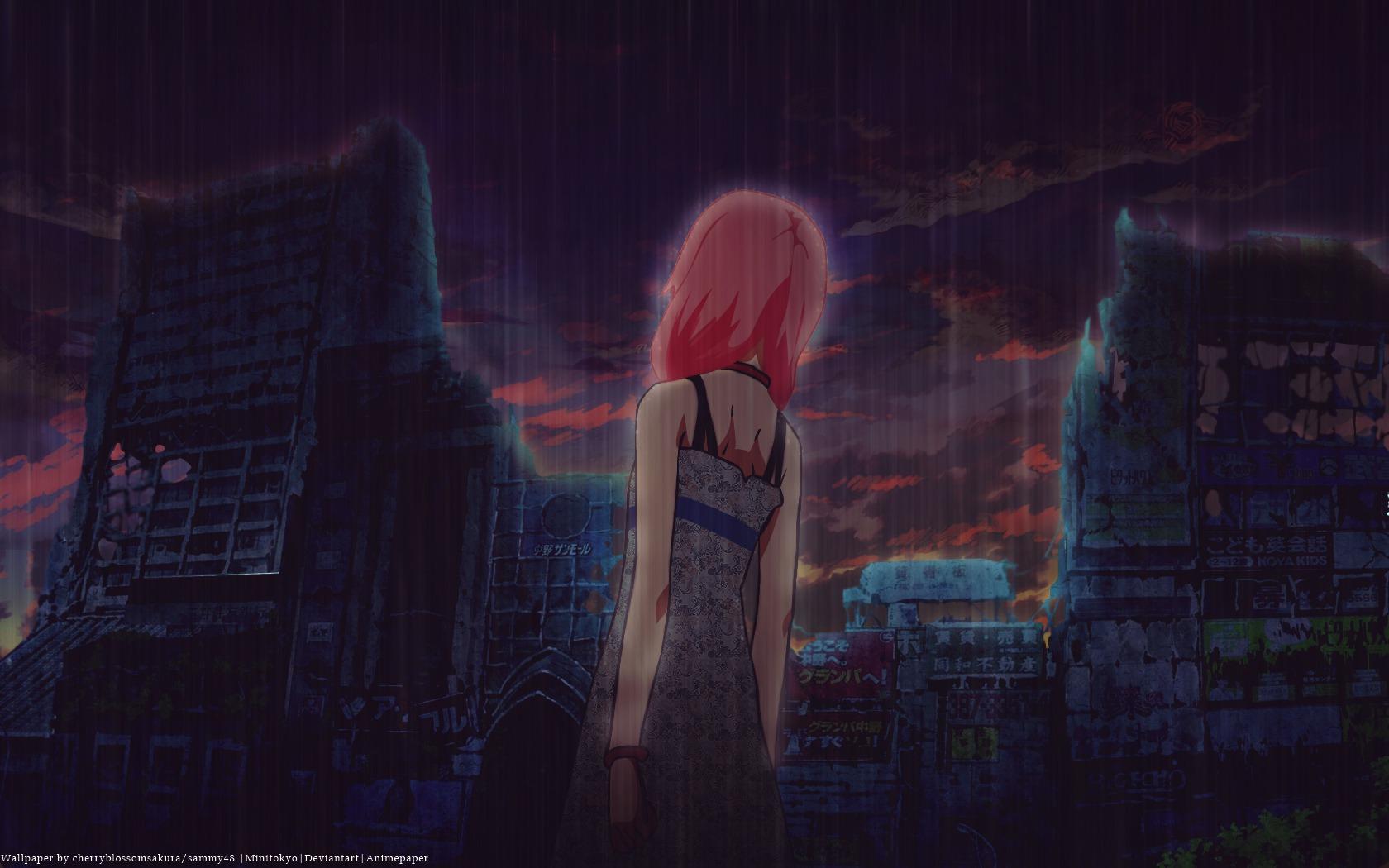 Sad Girl Background Wallpaper Yuzuriha Inori Wallpaper Zerochan Anime Image Board