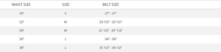 Size Chart Zumiez