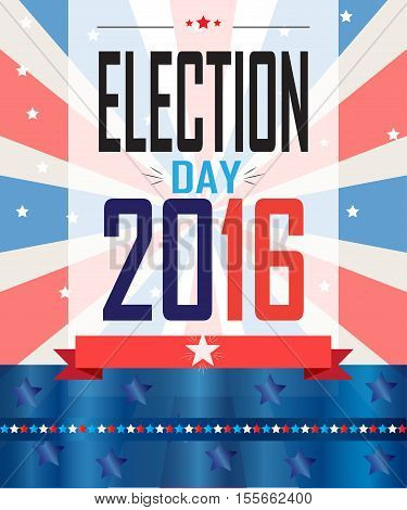American Presidential Election 2016 banner, poster, card For