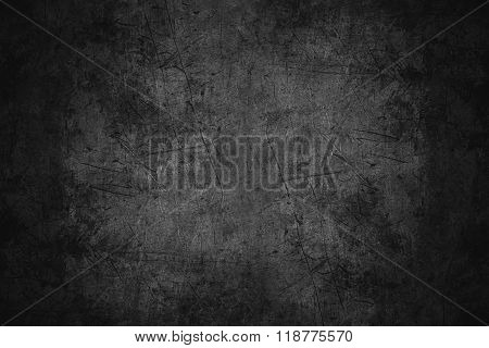 Black Scratched Metal Texture Poster ID118775570