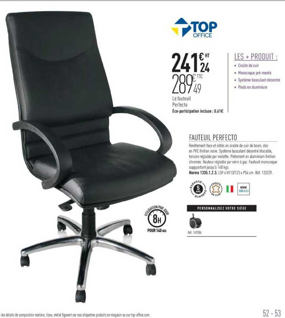 Offre Fauteuil Perfecto Chez Top Office