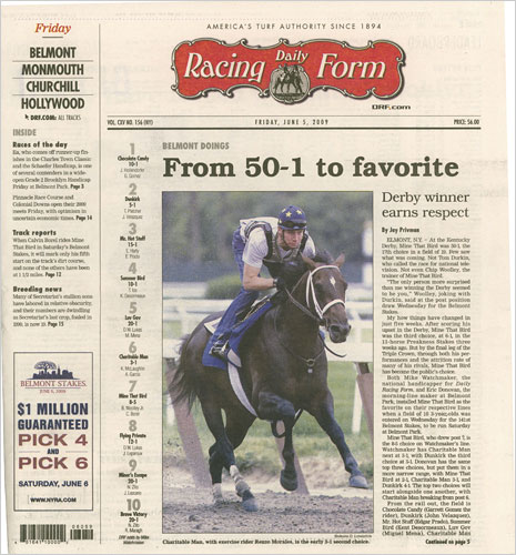A Focus on Horses Keeps The Daily Racing Form Free of Online Anxiety - racing form