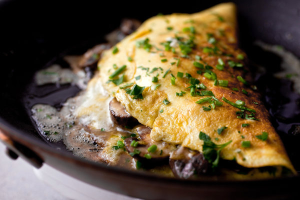 Mushroom Omelet With Chives Recipe - NYT Cooking
