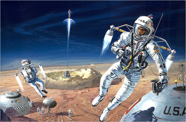 Robert T McCall, Illustrator of Space Travel, Dies at 90 - The New