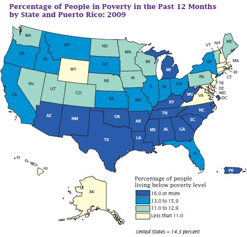 Census Data Shows Poverty Rates by State in 2009 - The New York Times