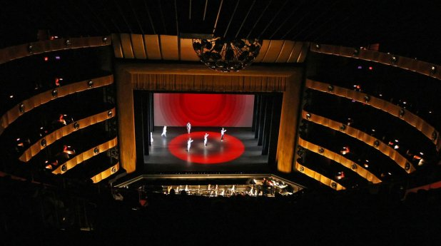 The View From Seat M104 20 In Fourth Ring Of David H Koch Theater Lincoln Center During A City Ballet Performance
