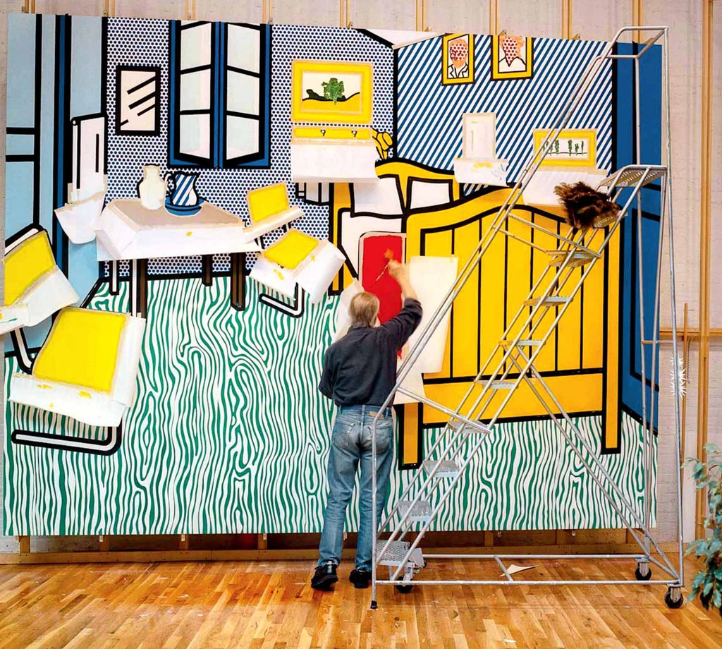 Roy Lichtenstein Cuadros In Laurie Lambrechts Photos A Glimpse Of Lichtenstein