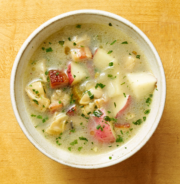 Soup Kitchen Long Island Ny Rhode Island Clam Chowder Recipe - Nyt Cooking