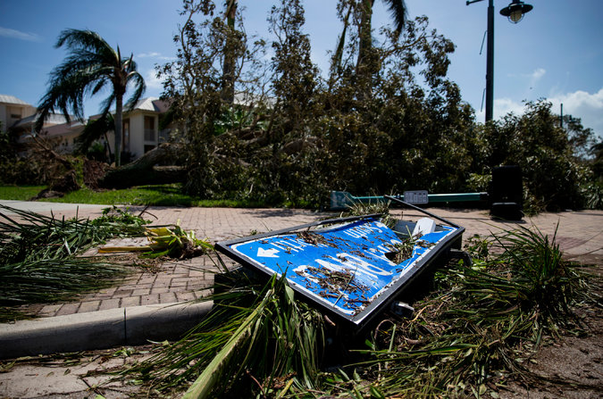 Storm Pushes North, but Millions Are Without Power in Florida - The