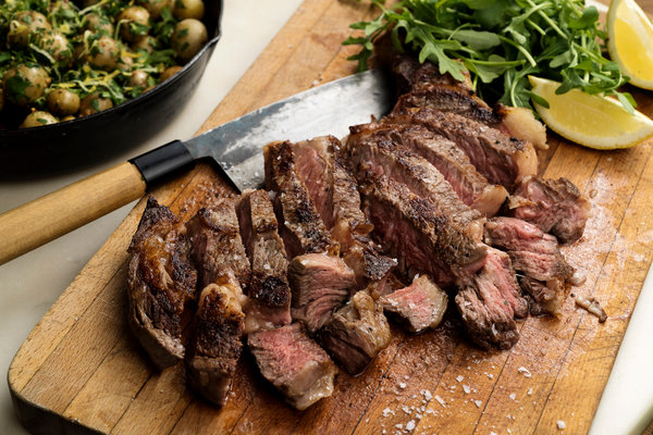 Rib-Eye Steak and Potatoes for Two Recipe - NYT Cooking