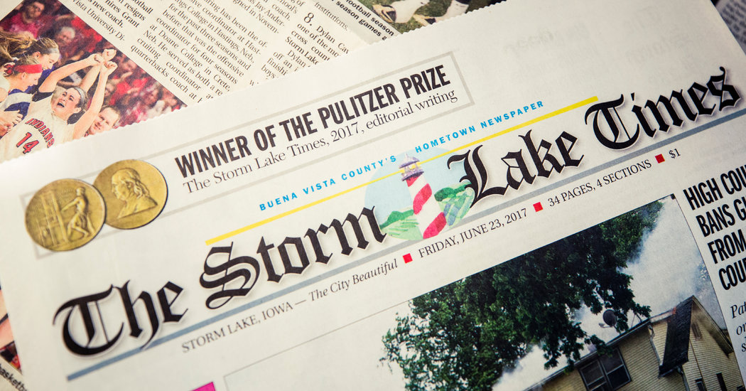 How a Small-Town Newspaper Editor Won a Pulitzer Prize - The New