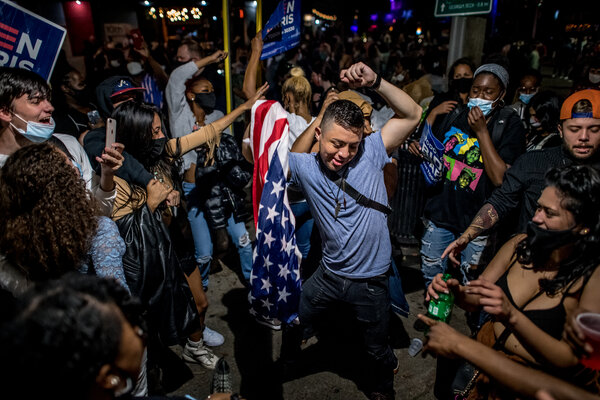 People celebrated in Atlanta last week after President-elect Joseph R. Biden was declared the winner of the presidential election.