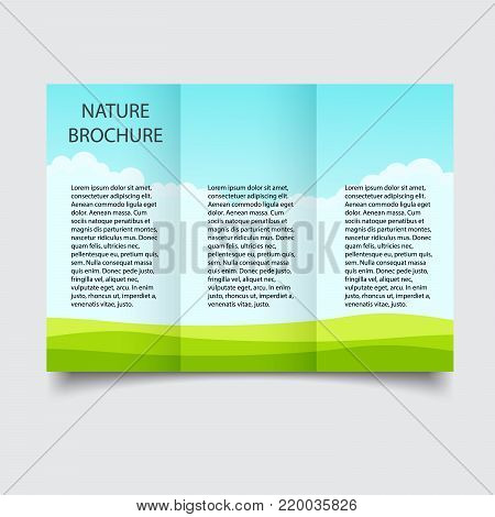 Nature Ecological Vector  Photo (Free Trial) Bigstock - blank brochure
