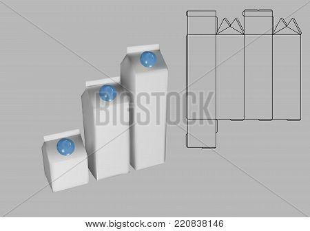Milk Carton Box Vector  Photo (Free Trial) Bigstock