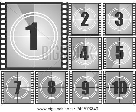 Set Numbers Old Movie Vector  Photo (Free Trial) Bigstock