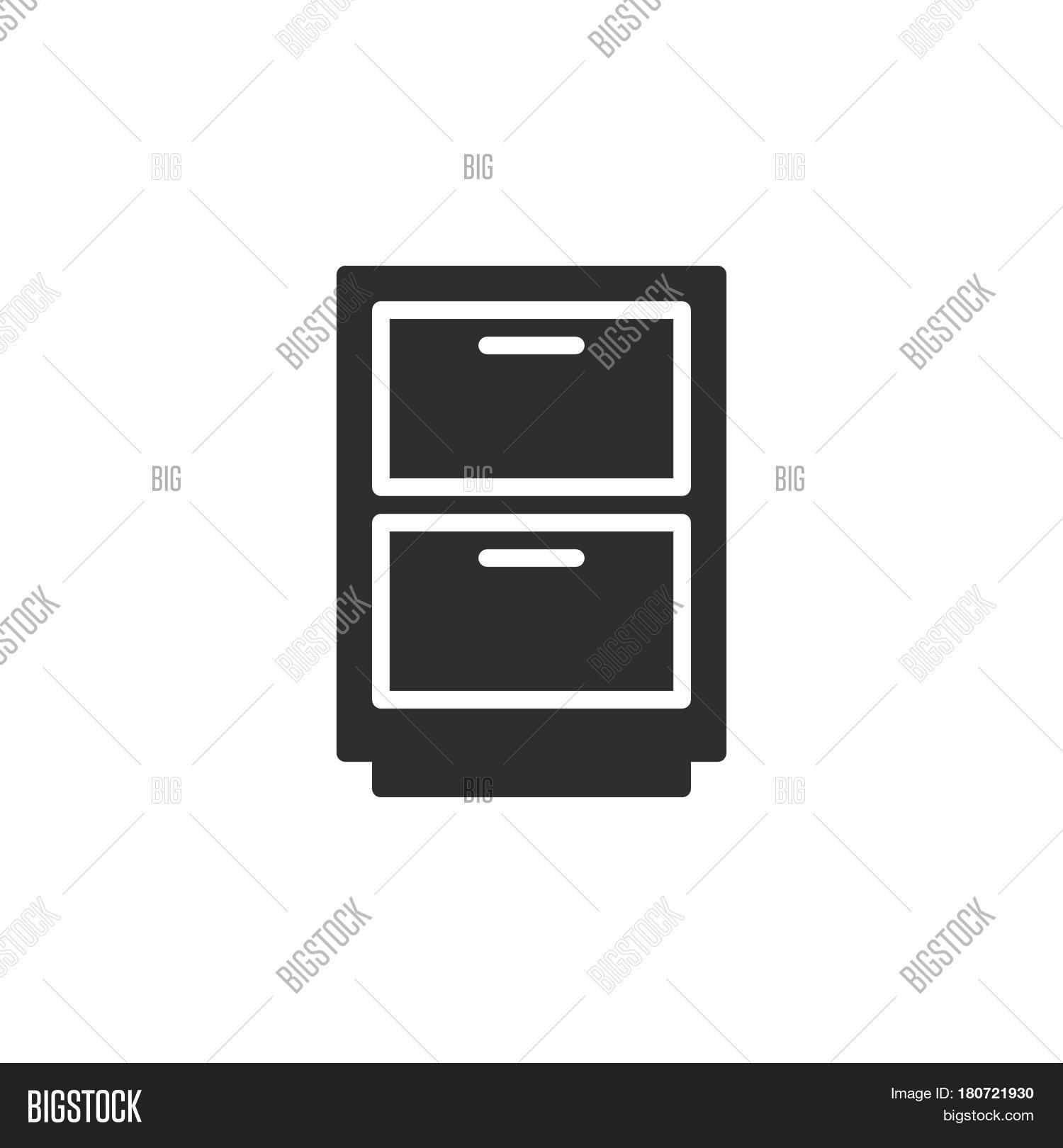 Filing Cabinet Icon Flat Cabinet Archive Icon Vector Photo Free Trial Bigstock