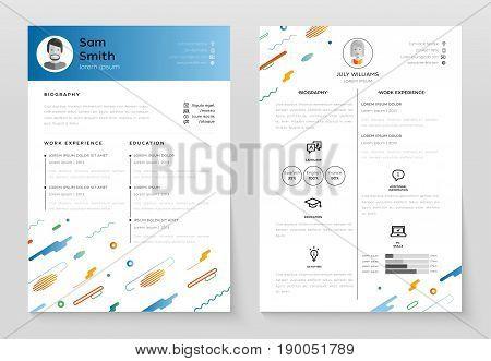 Personal Resume - Vector  Photo (Free Trial) Bigstock