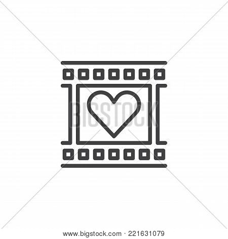 Film Reel Heart Frame Vector  Photo (Free Trial) Bigstock