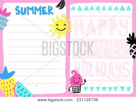 Daily Summer Planner Vector  Photo (Free Trial) Bigstock