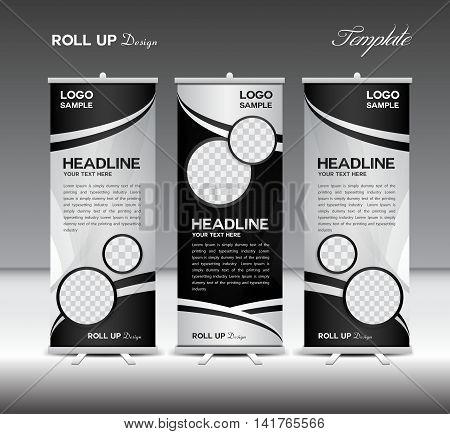 Black White Roll Vector  Photo (Free Trial) Bigstock