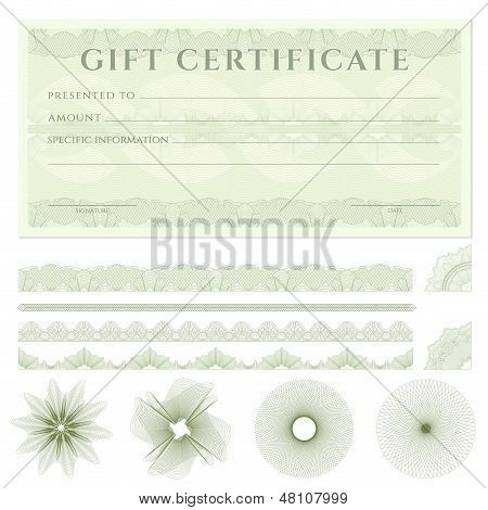 Gift Certificate ( Vector  Photo (Free Trial) Bigstock - money coupon template