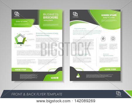 Modern Green Brochure Vector  Photo (Free Trial) Bigstock